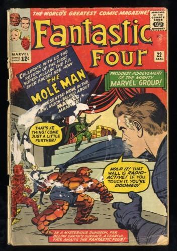 Fantastic Four #22 Fair 1.0 Marvel Comics