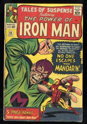 Tales Of Suspense #55 GD/VG 3.0 Mandarin! Iron Man