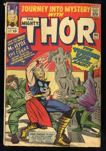 Journey Into Mystery #106 GD+ 2.5 Marvel Comics Thor