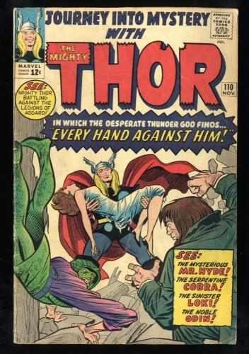 Journey Into Mystery #110 VG 4.0 Thor! Marvel Comics Thor