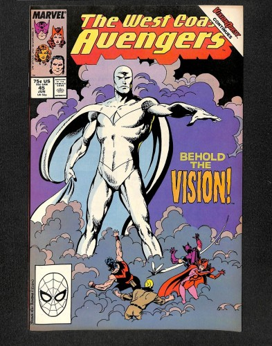 West Coast Avengers #45 VF+ 8.5 1st White Vision!