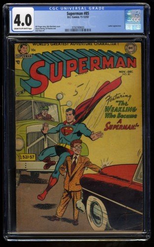 Superman #85 CGC VG 4.0 Cream To Off White