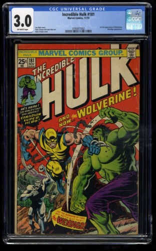 Incredible Hulk #181 CGC GD/VG 3.0 Off White
