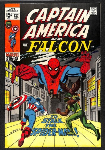Captain America #137 FN/VF 7.0 Spider-Man! Marvel Comics