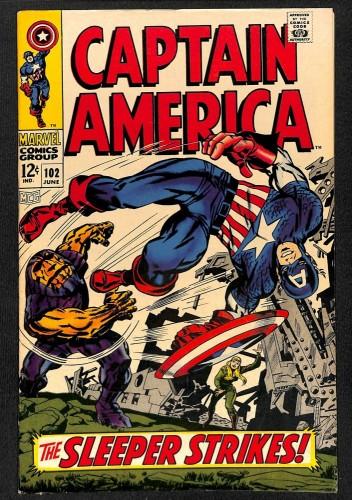 Captain America #102 FN+ 6.5 Marvel Comics