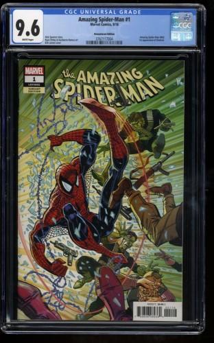 Amazing Spider-Man (2018) #1 CGC NM+ 9.6 Larsen Remastered Color 1:1000 Variant