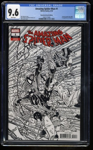 Amazing Spider-Man (2018) #1 CGC NM+ 9.6 Larsen Remastered Sketch 1:2000 Variant