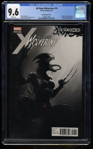 All-New Wolverine #19 CGC NM+ 9.6 Mattina Venomized 1:500 Sketch Variant!
