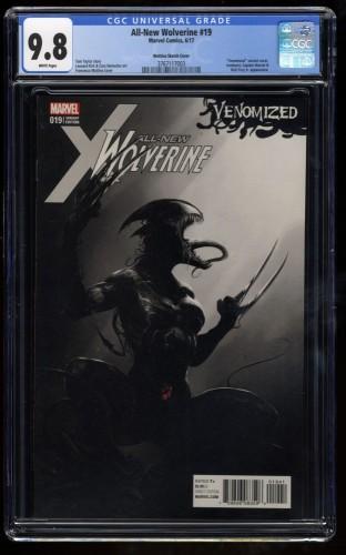 All-New Wolverine #19 CGC NM/M 9.8 White Pages Mattina Venomized Sketch Variant