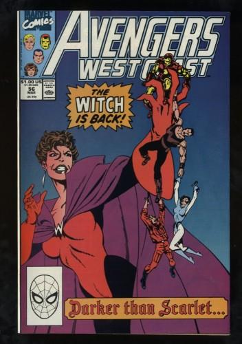 West Coast Avengers #56 NM 9.4 1st Dark Scarlet Witch!