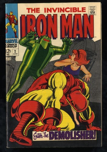 Iron Man #2 FN- 5.5 White Pages