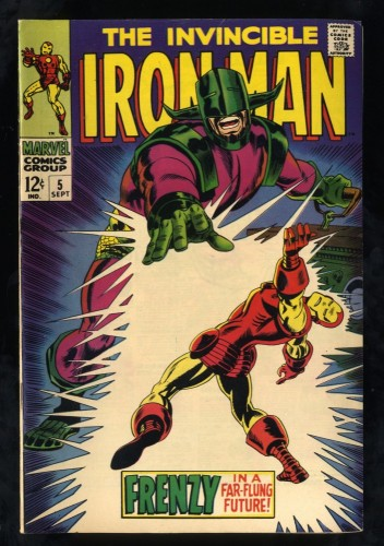 Iron Man #5 FN/VF 7.0 White Pages Marvel Comics