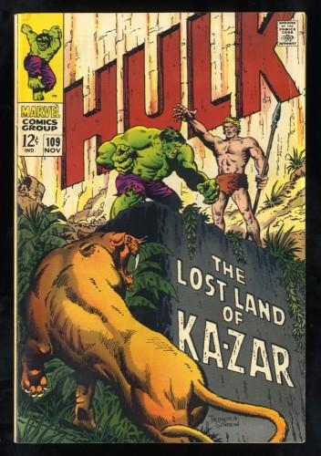 Incredible Hulk #109 FN+ 6.5 White Pages Ka-Zar!
