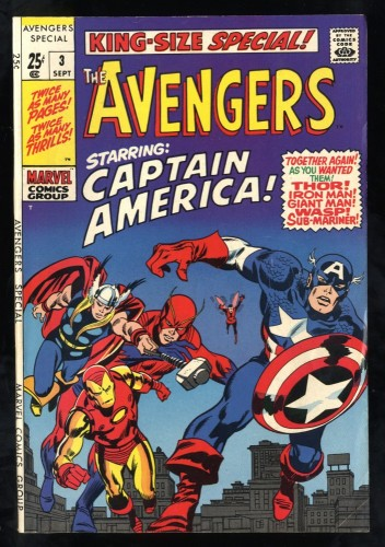 Avengers Annual #3 FN+ 6.5 White Pages Thor Captain America Iron Man!