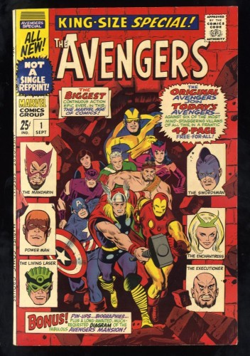 Avengers Annual #1 FN 6.0 White Pages