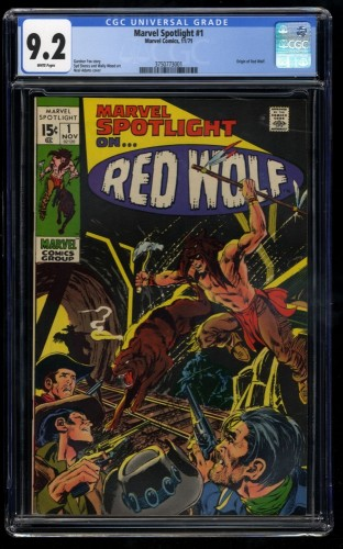 Marvel Spotlight #1 CGC NM- 9.2 White Pages 1st Red Wolf! Comics