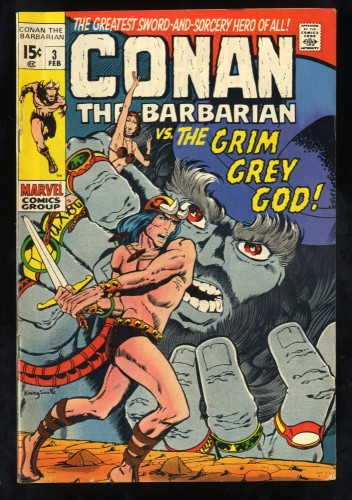 Conan The Barbarian #3 VG/FN 5.0 Marvel Comics