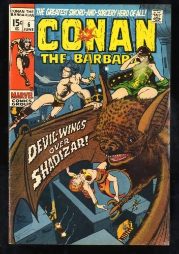 Conan The Barbarian #6 VG 4.0 Marvel Comics