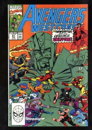 West Coast Avengers #61 NM+ 9.6