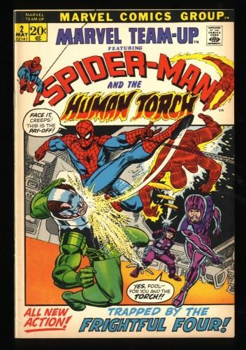 Marvel Team-up #2 FN/VF 7.0 Spider-Man Human Torch!