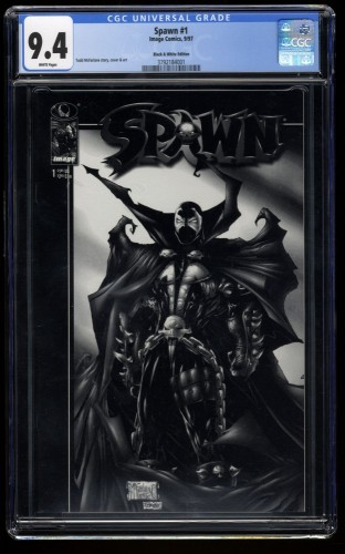 Spawn #1 CGC NM 9.4 White Pages Black and White Edition McFarlane!
