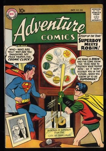 Adventure Comics #253 FN/VF 7.0 Superboy meets Robin! DC Superman