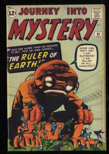 Journey Into Mystery #81 VF 8.0 Marvel Comics Pre-Hero!