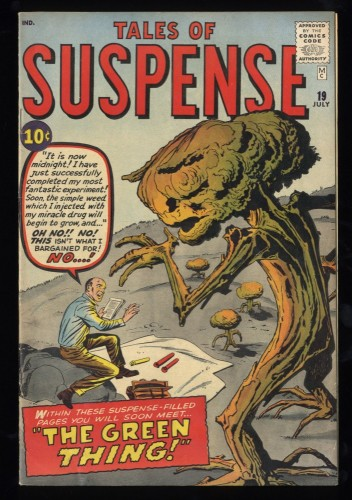 Tales Of Suspense #19 FN+ 6.5 Pre-Hero The Green Thing!