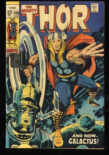Thor #160 VG+ 4.5 Galactus!