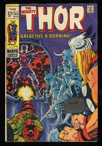 Thor #162 VG+ 4.5 Galactus!