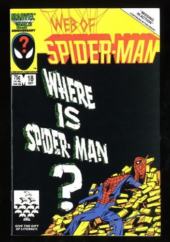 Web of Spider-Man #18 NM 9.4 1st Eddie Brock!