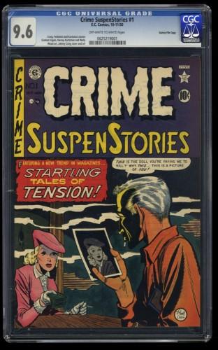 Crime Suspenstories #1 CGC NM+ 9.6 Off White to White Gaines File Copy