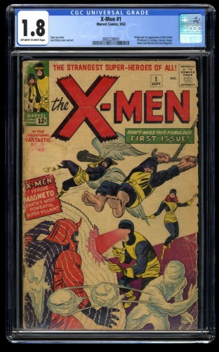 X-Men #1 CGC GD- 1.8 Off White to White Marvel Comics