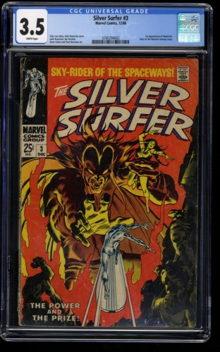 Silver Surfer #3 CGC VG- 3.5 White Pages 1st Mephisto! Marvel Comics