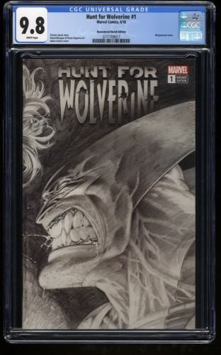 Hunt for Wolverine #1 CGC NM/M 9.8 White Pages Remastered Sketch Edition!