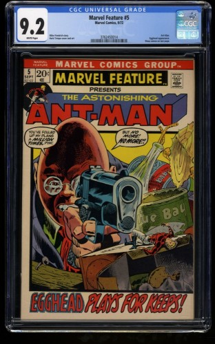 Marvel Feature #5 CGC NM- 9.2 White Pages Ant Man! Comics