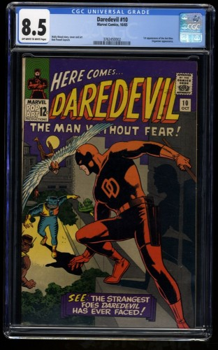 Daredevil #10 CGC VF+ 8.5 Off White to White Marvel Comics