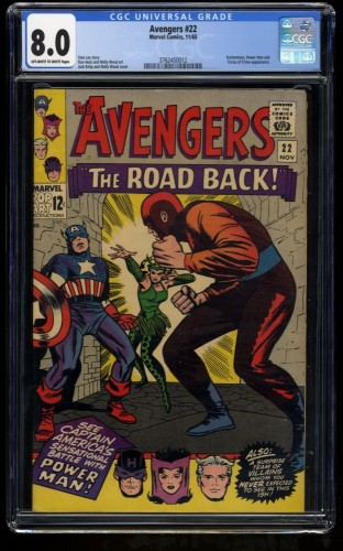 Avengers #22 CGC VF 8.0 Off White to White Marvel Comics Thor Captain America