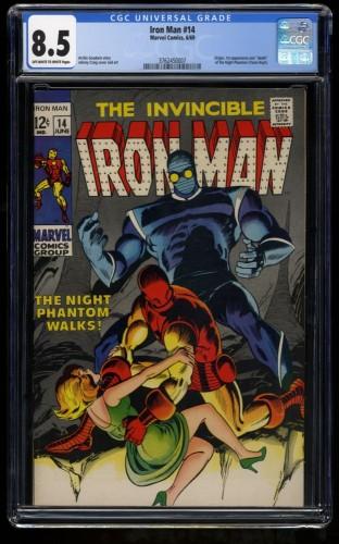 Iron Man #14 CGC VF+ 8.5 Off White to White 1st Night Phantom! Marvel Comics