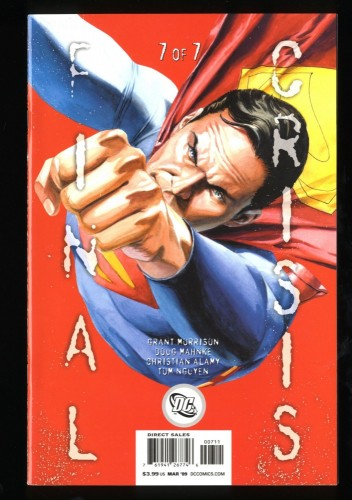 Final Crisis #7 NM- 9.2 1st Calvin Ellis Black Superman!