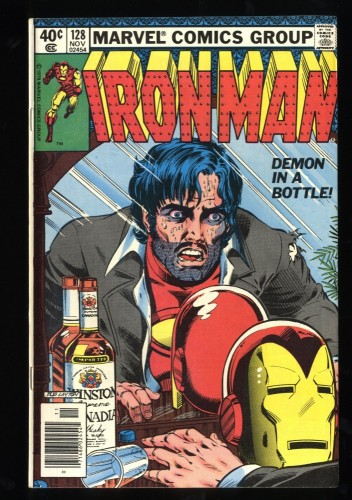 Iron Man #128 VF 8.0 Demon in a Bottle! Marvel Comics