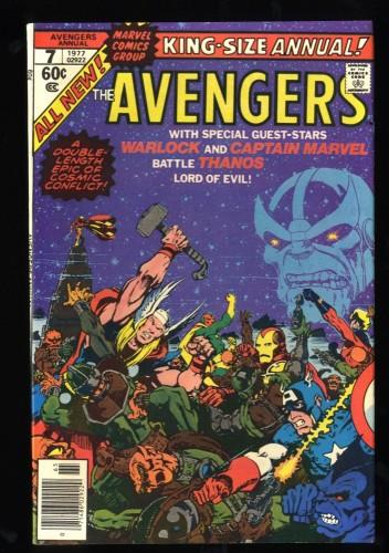 Avengers Annual #7 VF+ 8.5 Thanos Death of Adam Warlock!