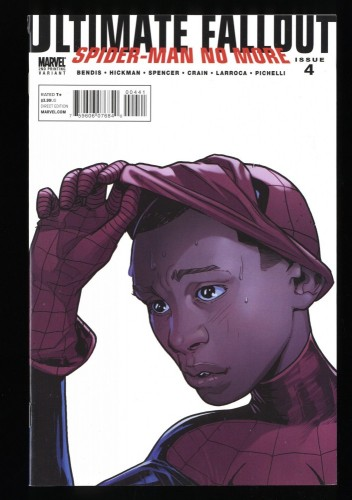 Ultimate Fallout #4 FN/VF 7.0 1st Miles Morales! Pichelli Variant!
