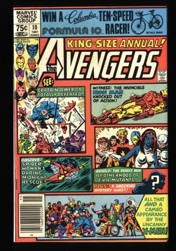 Avengers Annual #10 VF- 7.5 Newsstand Variant 1st Rogue!