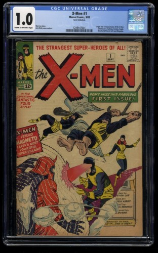 X-Men #1 CGC Fair 1.0 Cream To Off White Marvel Comics