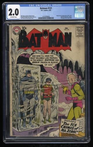 Batman #121 CGC GD 2.0 Off White 1st Mr. Freeze!