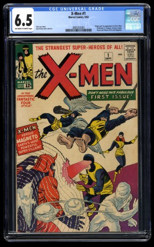 X-Men #1 CGC FN+ 6.5 Off White to White Stunning Copy!