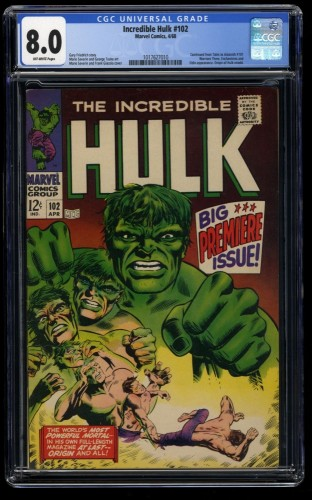Incredible Hulk #102 CGC VF 8.0 Off White
