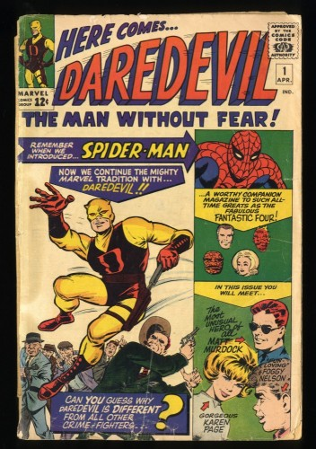 Daredevil #1 Inc 0.3 No Back Cover Nice Eye Appeal!