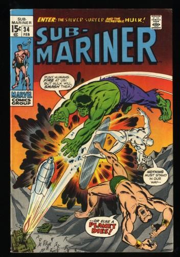 Sub-Mariner #34 VF 8.0 1st Defenders! Marvel Comics